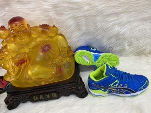 Giày thể thao bóng chuyền Asics màu xanh
