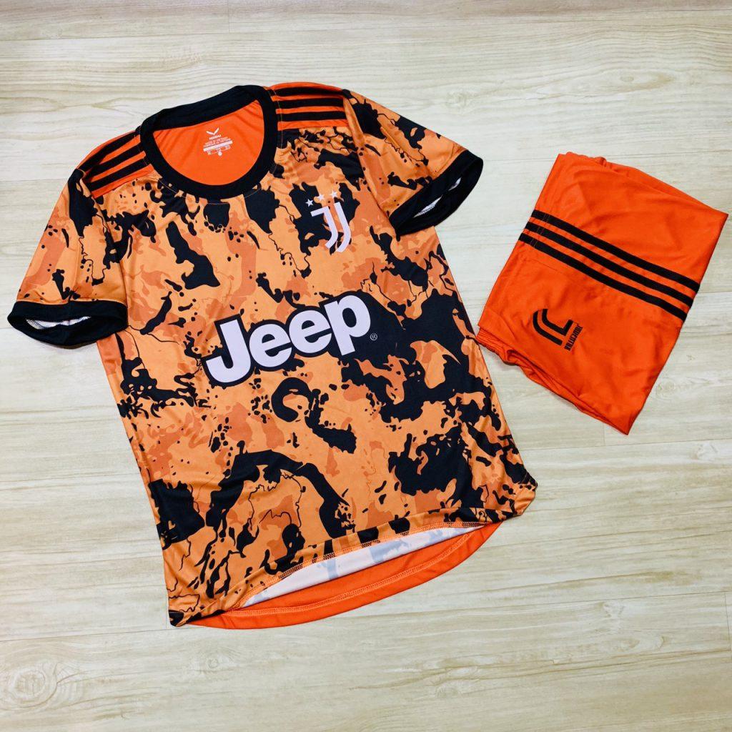 Áo bóng đá thể thao cao cấp Clb Juventus màu cam