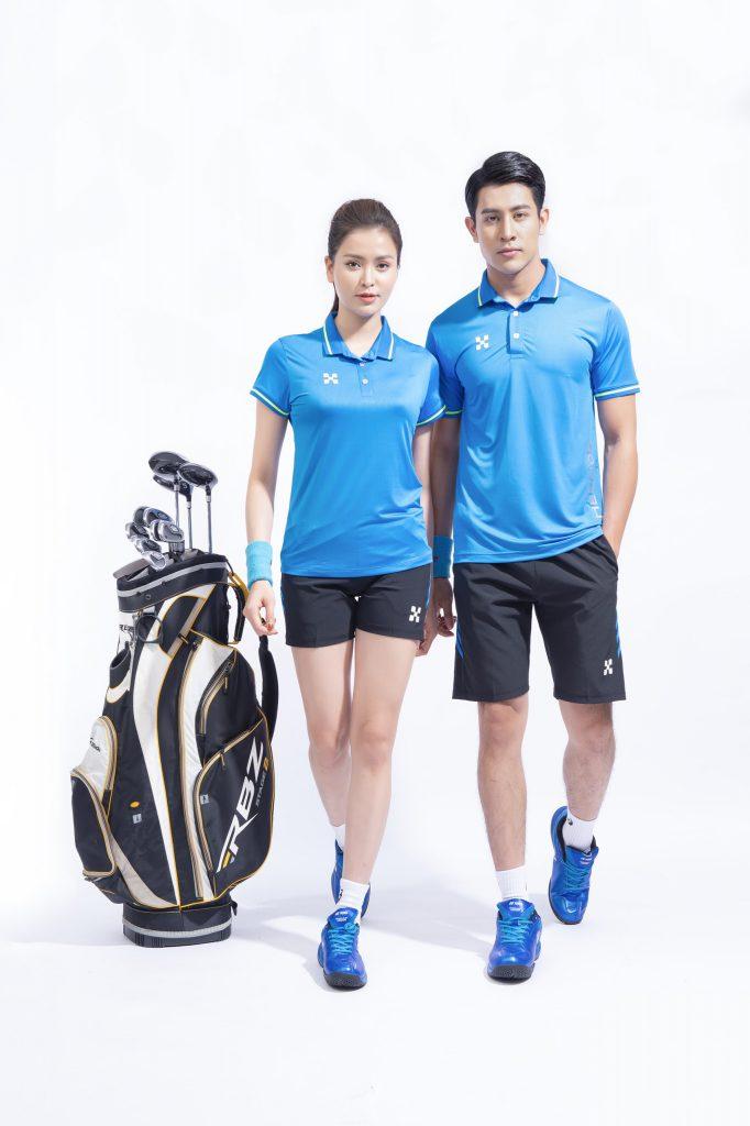 Áo thể thao cầu lông bóng chuyền tennis Hermod – shine màu xanh da trời