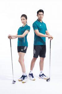 Áo thể thao cầu lông bóng chuyền tennis Hermod – shine màu xanh