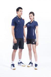 Áo thể thao cầu lông bóng chuyền tennis Hermod – shine màu xanh biển