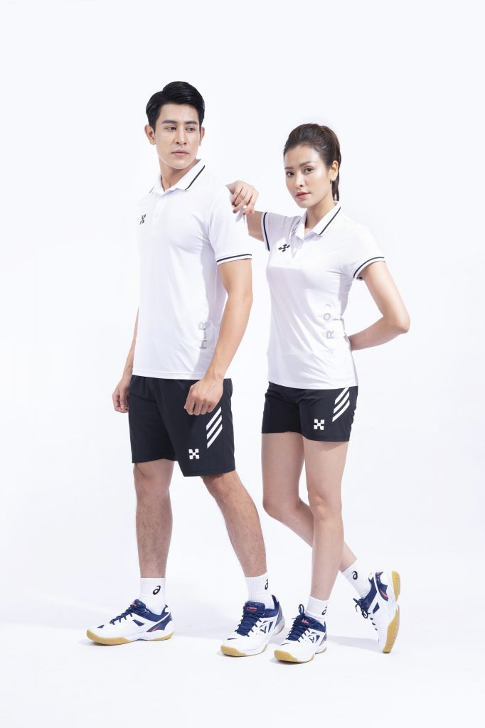 Áo thể thao cầu lông bóng chuyền tennis Hermod – shine màu trắng