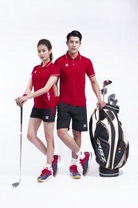 Áo thể thao cầu lông bóng chuyền tennis Hermod – shine màu đỏ