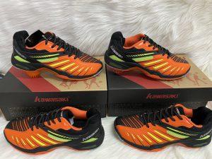 Giày cầu lông, bóng chuyền kawasaki k520 màu cam