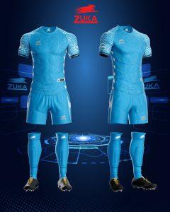 Áo bóng đá zuka thun thái cao cấp màu xanh dương
