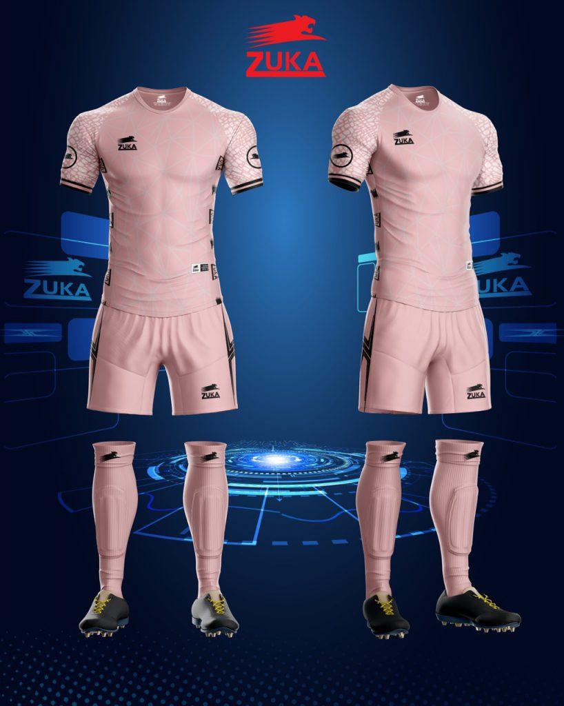 Áo bóng đá zuka thun thái cao cấp màu hồng