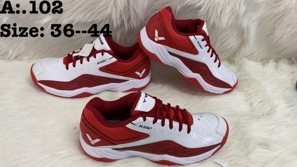 Giày bóng chuyền cầu lông Victor A102 màu đỏ trắng