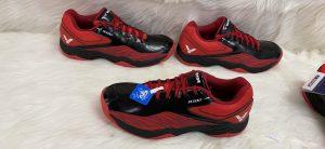 Giày bóng chuyển cầu lông Victor A102 màu đỏ đen