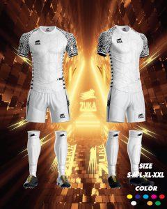 Áo bóng đá zuka thun thái cao cấp màu trắng
