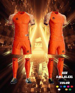 Áo bóng đá zuka thun thái cao cấp màu cam