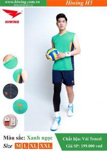 Áo bóng chuyền Nam Hiwing FIVE – H5 chính hãng màu Xanh Ngọc