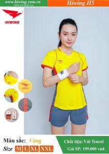 Áo bóng chuyền Nữ Hiwing FIVE – H5 chính hãng màu Vàng