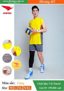 Áo bóng chuyền Nam Hiwing FIVE – H5 chính hãng màu Vàng