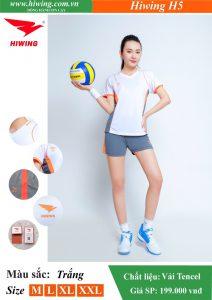 Áo bóng chuyền Nữ Hiwing FIVE – H5 chính hãng màu trắng
