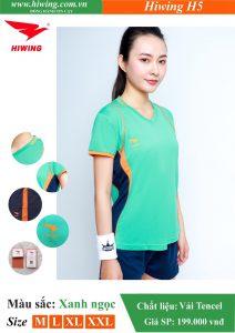 Áo bóng chuyền Nữ Hiwing FIVE – H5 chính hãng màu Xanh ngọc