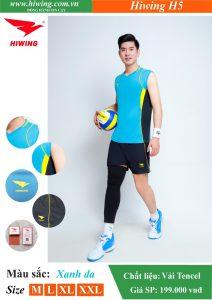 Áo bóng chuyền Nam Hiwing FIVE – H5 chính hãng màu Xanh Da