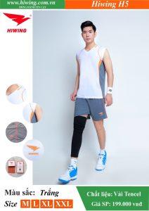 Áo bóng chuyền Nam Hiwing FIVE – H5 chính hãng màu Trắng