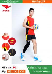 Áo bóng chuyền Nam Hiwing FIVE – H5 chính hãng màu Đỏ