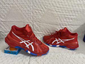 Giày bóng chuyền Asics mã 898 màu Đỏ