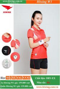 Áo cầu lông Nữ HIWING-W1 màu Đỏ