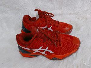 Giày bóng chuyền chính hãng ASICS màu Đỏ + Full box-Đế Cao su được khâu full đế mã mới năm 2021