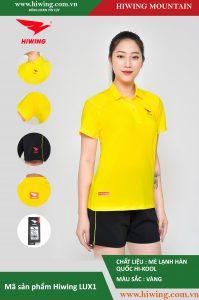 Áo cầu lông nữ chính hãng Hiwing Mountain Lux 1 màu Vàng
