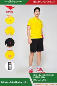 Áo cầu lông nam chính hãng Hiwing Mountain Lux 1 màu Vàng
