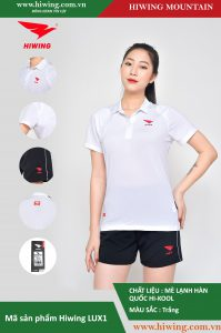 Áo cầu lông nữ chính hãng Hiwing Mountain Lux 1 màu Trắng