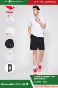 Áo cầu lông nam chính hãng Hiwing Mountain Lux 1 màu Trắng