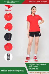 Áo cầu lông nữ chính hãng Hiwing Mountain Lux 1 màu Đỏ