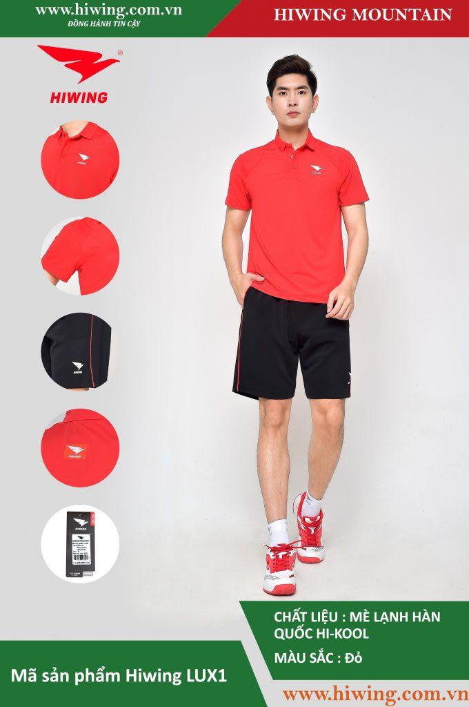 Áo cầu lông nam chính hãng Hiwing Mountain Lux 1 màu Đỏ