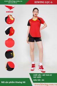 Áo bóng chuyền nữ chính hãng HIWING mã H6 màu Đỏ