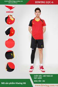 Áo bóng chuyền nam chính hãng HIWING mã H6 màu Đỏ