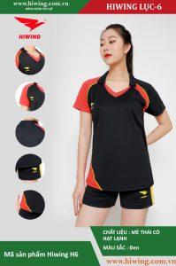Áo bóng chuyền nữ chính hãng HIWING mã H6 màu đen
