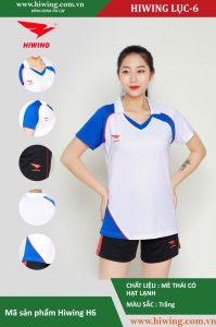 Áo bóng chuyền nữ chính hãng HIWING mã H6 màu Trắng