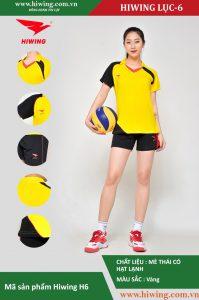 Áo bóng chuyền nữ chính hãng HIWING mã H6 màu vàng