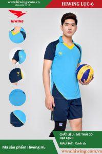 Áo bóng chuyền nam chính hãng HIWING mã H6 màu Xanh da