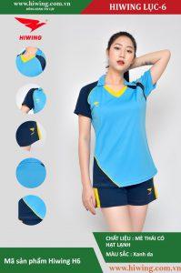 Áo bóng chuyền nữ chính hãng HIWING mã H6 màu Xanh Da