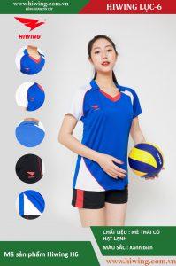 Áo bóng chuyền chính hãng nữ HIWING lục – H6 màu xanh bích
