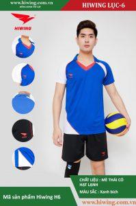 Áo bóng chuyền chính hãng nam HIWING lục – H6 màu xanh bích